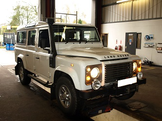 Landrover for inspection